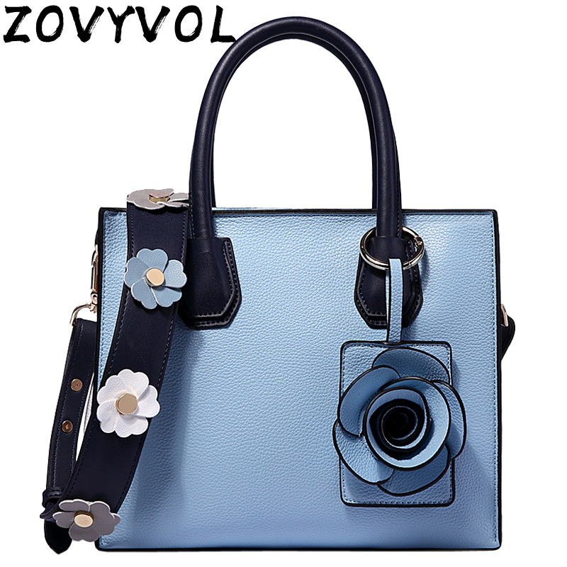 ZOVYVOL 2019 New Fashion Soft  Women Handbag Elegant Ladies Shoulder Bag Messenger Purse Satchel White Blue
