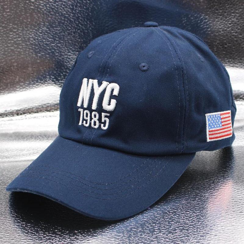 SUOGRY 2018 Top Qualität Baumwolle NYC 1985 Baseball Kappe Gorra Trucker Golf Hüte Männer Frauen Caps Männer USA Hüte Amerikanischen flag Hysterese