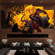 Painting Canvas Wall Art 5 Piece Game udyr League of Legends For HD Print Living Room