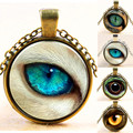 2015 New Vintage Jewelry Wholesale Blue Devil Eye Necklace Pendant Animal Fashion Charming Ethnic Glass Necklace for Men Women