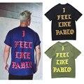 2017 Nuevo Pablo T Shirt Hombres Mujeres Summer Yeezy de Kanye West de La la vida de pablo tees tops me siento como pablo pablo orange/white t-shirt