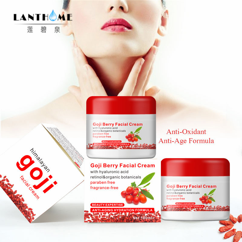 Hyaluronic acid goji cream goji berry facial cream medlar multi effect anti aging wrinkle Inhibit the activity of tyrosinase стоимость