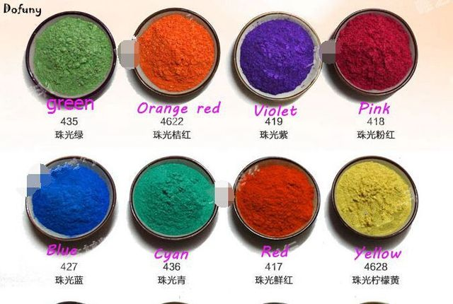 16 Colors Natural Mineral Mica Powder DIY For Soap Dye Soap Colorant ...