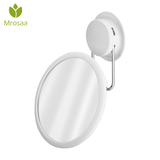 360 Rotation Cosmetic Mirror High Quality Make Up Suction Cup Wall Mount Toilet Detachable Bathroom