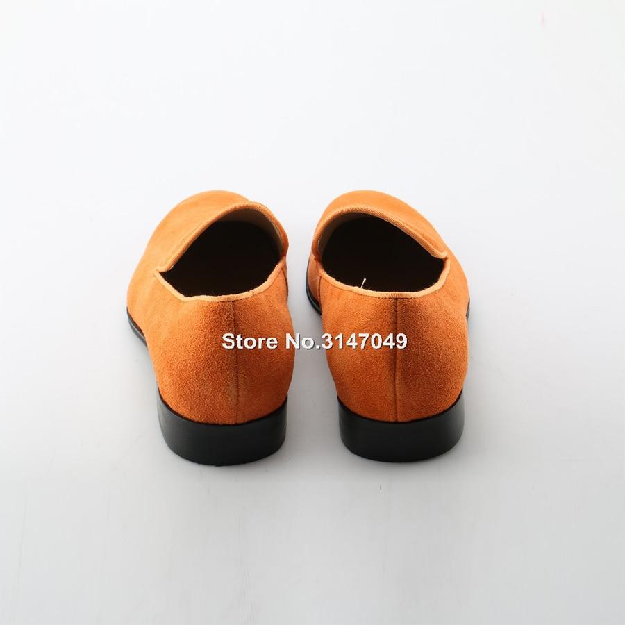Vestido Vestir Okhotcn Naranja on Slip Suede Zapatillas De Hombres Punta Oxfords 46 Cuero Tamaño Zapatos Hombre Moda Calzado gZrq5xIZn