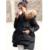 Verdadeiro Grande gola de Pele De Guaxinim 2016 Inverno Nova Moda de Algodão-acolchoado jacket Quente Longo Casaco de Inverno Mulheres Parka Feminino jaqueta