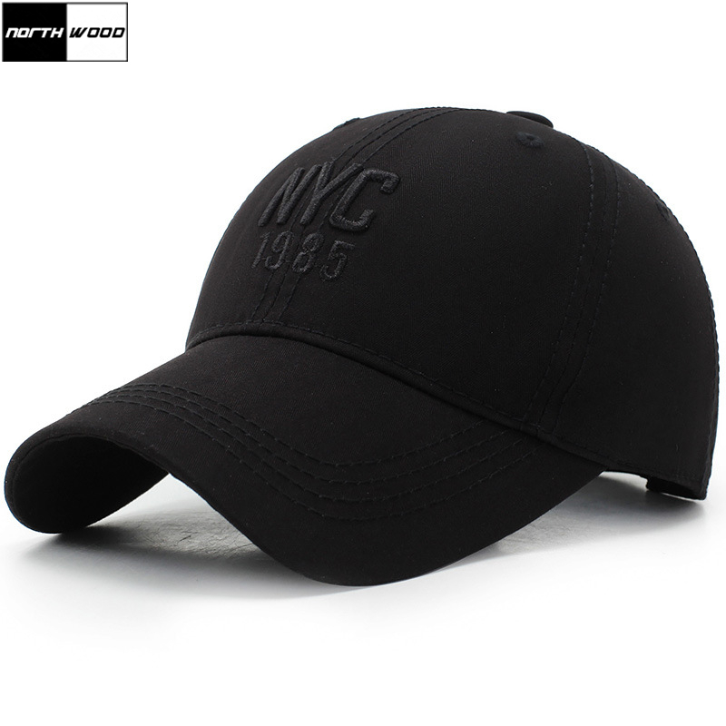 [NORTHWOOD] NYC Embroidery   Baseball     Cap   Men Women Dad Hat Snapback Hip Hop Casquette Ny Gorras Para Hombre Fitted   Cap