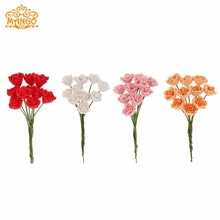 1/12 Dollhouse Miniature Clay Flower Red roses Yellow daisies Blue butterfly orchid lot of 10pcs Flower