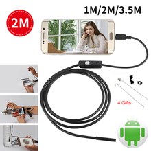Android USB Endoscope For Smartphone HD 7mm Cable Pipe Mini Camera Waterproof Led Inspection Surveillance Endoscopio Borescope