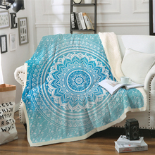 Blue Bohemian Blanket Plush Throw Sofa Noble Bedspread Bed 150x200cm