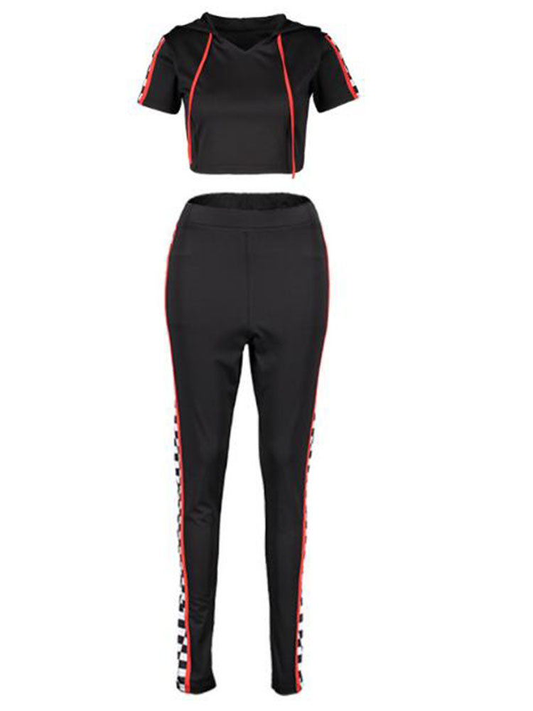 print tracksuits women two piece set 2019 spring summer t-shirt top and pants set suits casual bodcon 2 piece set
