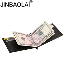Slim Cash Genuine Leather Women Men Holder Clamp For Money Clip Metal I Male Female Wallet Purse With Card Bill Kashelek Cateira цены