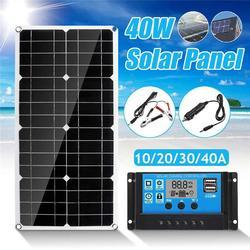 Podwójny USB 40 W panel słoneczny z 10A panel słoneczny do samochodu Yacht RV lampa na zewnątrz ładowarka Ładowarki    -