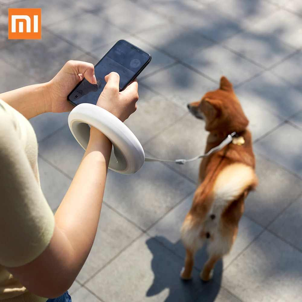 Xiaomi MOESTAR Retractable Dog Leash Ring Led lighting Flexible Pet collar Dog Puppy Traction Rope Belt Length 2.6M Smart Remote