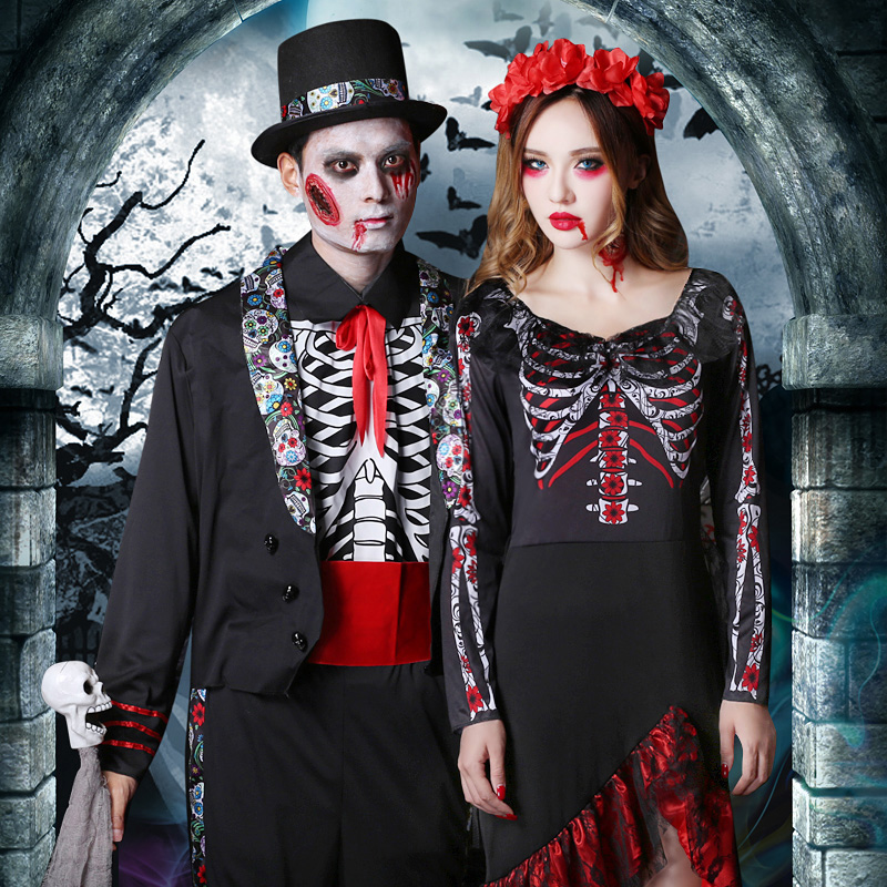 Halloween Adult Man cos costume Ghost Festival Cosplay ghost, horror vampire costume zombie performance clothes for women