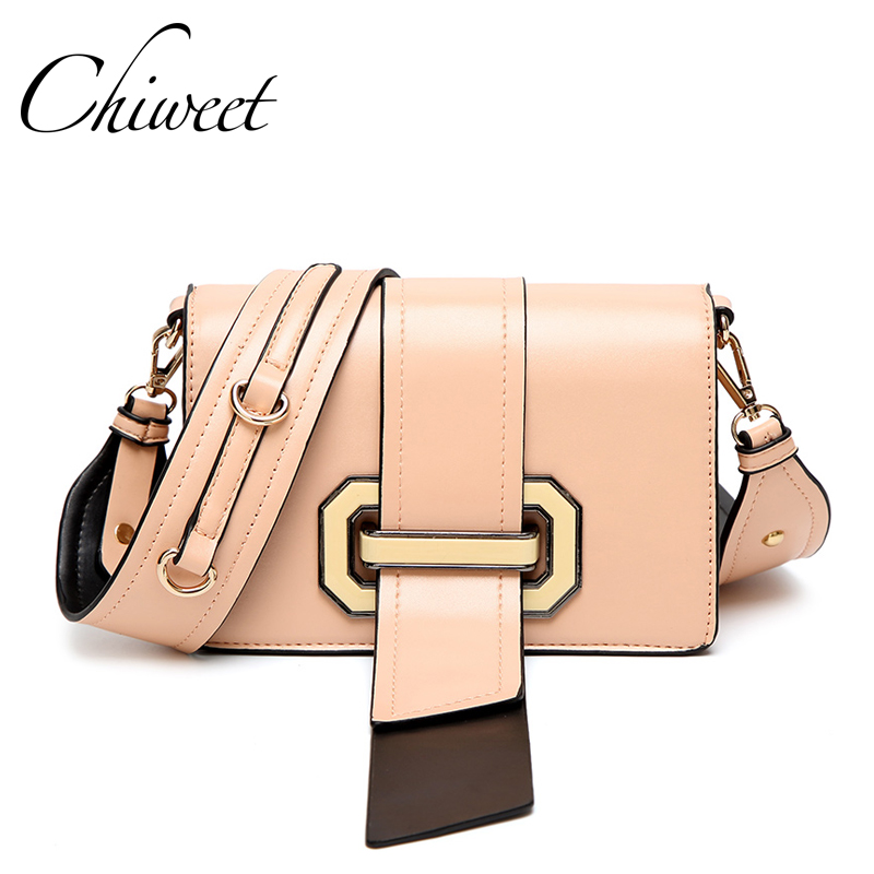 Fashion New Pink Panelled Ribbon Bags Handbags Women Famous Brands Wide Strap Shoulder Bags Luxury Small Crossbody Messenger Bag