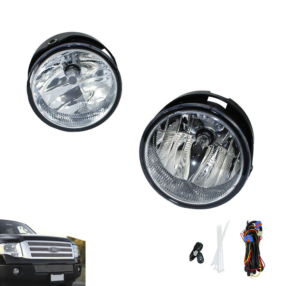 Fog light for 2008-2014 FORD EXPEDITION/2008-2011 RANGER fog lamps Clear Lens Bumper Fog Lights Driving Lamps   YC100929-CL window deflector for ford ranger injection black car wind deflector visor vent shade rain sun guard for ford ranger t6 2012 2014