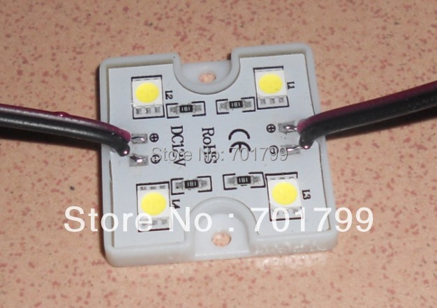 promotion!!! 5050 SMD COOL WHITE LED module,0.96W;DC12V;20pcs a string;IP67;6000-6500K