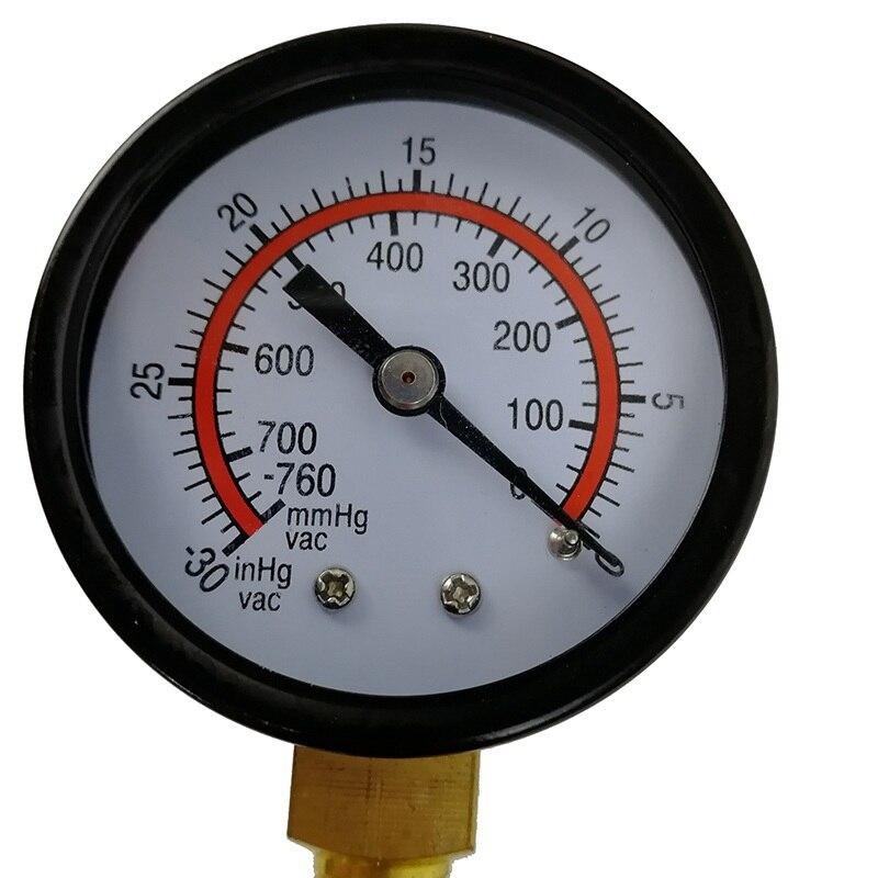 VicTsing 2 in 1 Car Handheld Vacuum Pressure Pump Tester Set Brake Fluid Bleeder Bleeding Kit DIY Brake Pressure Vacuum Gauge (16)