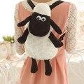 Cute soft plush cartoon anime Shaun black sheep toy backpack school bag creative Baby Student Boy Backpack for Kids  gitfs