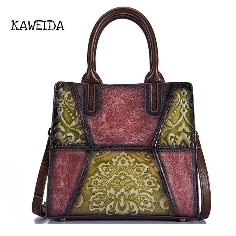 Famous Brand Women Bag 2018 Luxury 100% Genuine Leather Bag Ladies Vintage Handbag Female Tote Designer Shoulder Crossbody Bag zobokela genuine leather women messenger bag female luxury handbag women bag designer ladies women shoulder bag crossbody tote