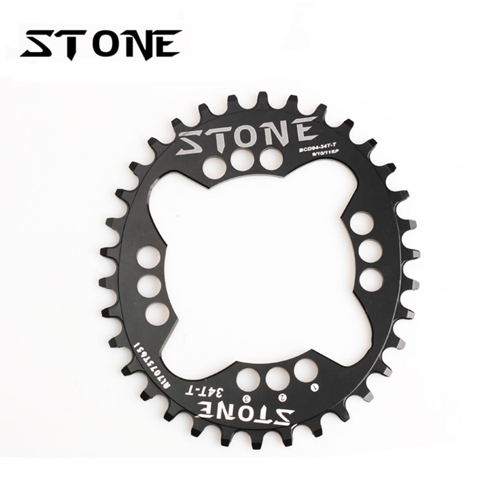 Stone Oval Single Chainring 94mm BCD Narrow Wide 4 Bolt 94 For X1 GX NX FSA Chainwheel 34t 36t 38t 40T Chain Ring Bicycle Parts octane one звезда evo bcd 4 x 104mm 38t зелёная