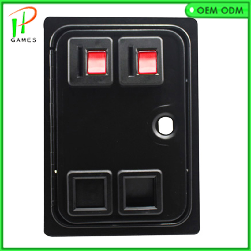 Dual American Style Coin Door With Mechanical Coin Acce