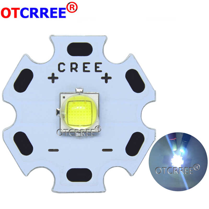 Cree XLamp XM-L2 XML2 T6 10W Cool White 6500K High Power LED Light Emitter Diode for flashlight on 16mm Black or White PCB