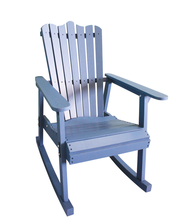Outdoor Furniture Rocking Chair Wood 4 Colors American Country Style Antique Vintage Adult Recliner Large Garden