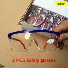 1e7434399b 2 unids protector ocular para PC de alta calidad resistente al impacto gafas  protectoras gafas polvo ciclismo a prueba de polvo .