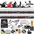 Полный Начинающий Татуировки Kit Пулеметы Чернила Иглы Татуировки Питания D179GD-4