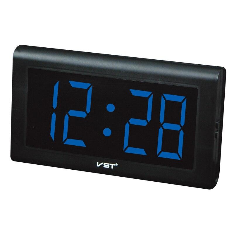 Parents LED Wall Clock digital glowing numbers plastic ...