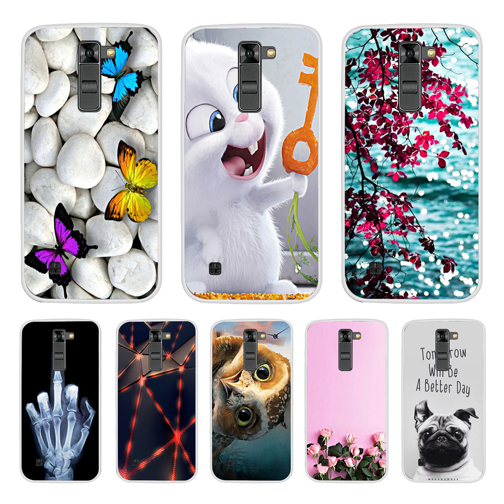 Soft Silicone Cover TPU Case for LG K7/Tribute 5 LS675/X210 X210DS Phone Case Soft Silicone Back Cover Case For LG K7 K 7 Cover-in Fitted Cases from Cellphones & Telecommunications