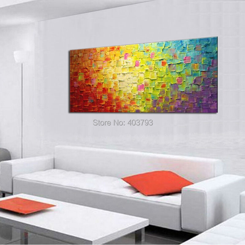 Seekland Wall Art Modern Abstract Handmade Oil Painting Texture Large Canvas Art Artwork No Frame For Living Room Home Decor in Painting Calligraphy from Home Garden