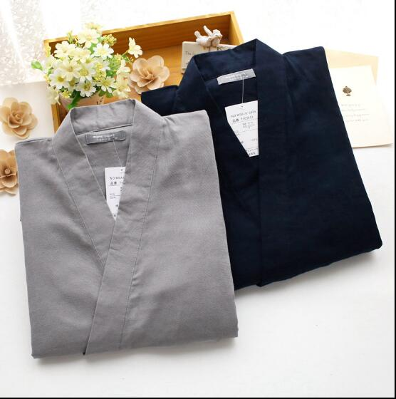 Japanese Kimono Boy Cotton And Gauze Pijama Japanese Men's Clothing Suits Khan Steamed Service Clothes