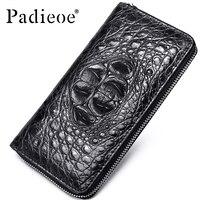Padieoe 2018 New Coin Purse Embossing Alligator Fashion Crocodile Long Men Clutch Wallets Men's Crocodile Long Clutch Wallets