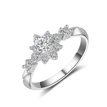Casual 18K Gold Girl Star Diamond Ring Zircon Engagement Party Fine Jewelry Big for Valentine Lovers