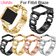 For Fitbit Blaze smart watch wristband+Bezel Stainless steel men's watches women's bracelet For Fitbit Blaze strap accessories watchbands stainless steel strap bands bracelet black silver gold with tool for fitbit alta blaze tracker smart wristband
