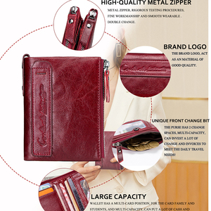 Image 5 - HOT SALE 2020 Coin Bag Zipper Wallet Women Genuine Leather Wallets Purse Fashion Short Purse With Credit Card Holder Hasp Design