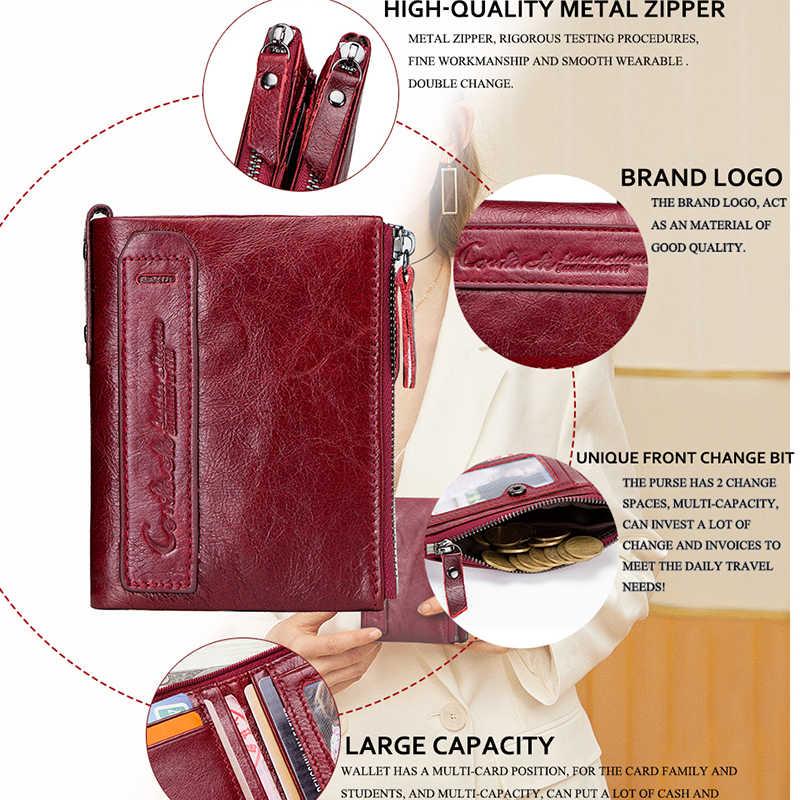 Sıcak satış 2020 sikke çanta fermuar cüzdan kadın hakiki deri cüzdan çanta moda kısa çanta kredi kart tutucu çile tasarım