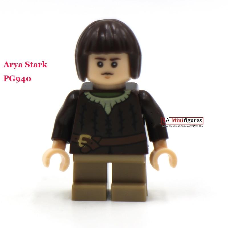 10PCS New Comics SuperHeroes <font><b>Game</b></font> <font><b>of</b></font> <font><b>Thrones</b></font> <font><b>Arya</b></font> <font><b>Stark</b></font> Minifigure Mini <font><b>figures</b></font> bricks building blocks Model Kits Toys