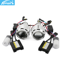 RONAN MINI H1 Bi xenon Projector Lens motorcycle auto headlight Xenon CNlight AC ballasts 35W Parking Car styling H4 H7 adapter