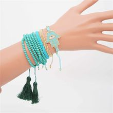 Shinus Miyuki Bracelet Evil Eye Mexican Jewelry Summer 2019 Bohem Beaded Pulseras Mujer Instagram Fashion Set New Collection Art