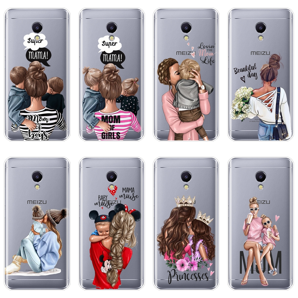 TPU Baby Women Mom Back Cover For <font><b>Meizu</b></font> M6 <font><b>M6S</b></font> M6T M5 M5C M5S M3 M3S M2 Soft Silicone Phone <font><b>Case</b></font> For <font><b>Meizu</b></font> M6 M5 M3 M2 Note <font><b>Case</b></font> image