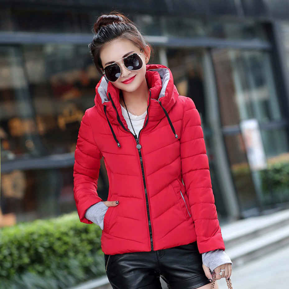 ZOGAA 2019 New Winter Women Hooded Parkas Ladies Down Cotton Solid Hooded Parkas Coat Female Warm Short Parkas Plus Size