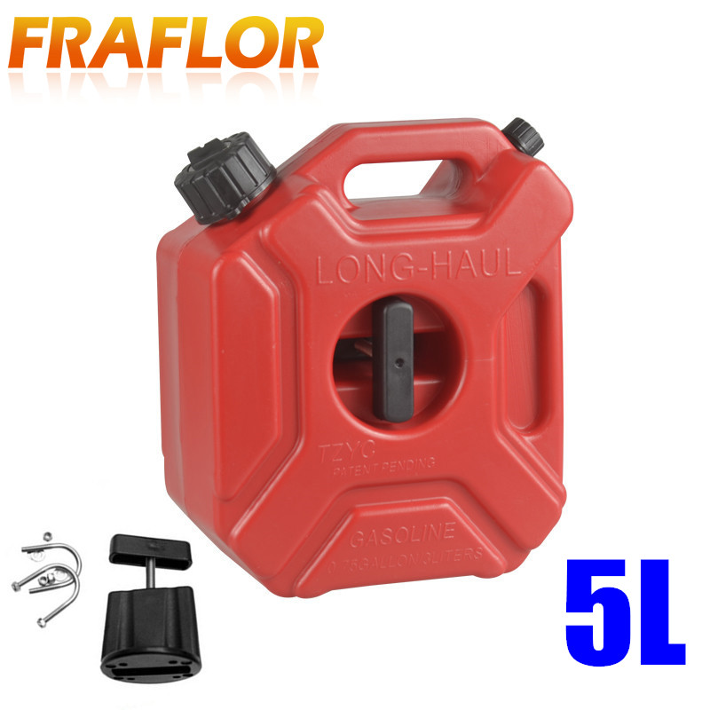 5 Litre Fuel Tank Jerry Cans Spare Plastic Petrol Tanks Atv Jerrycan Mount Motorcycle Gas Can