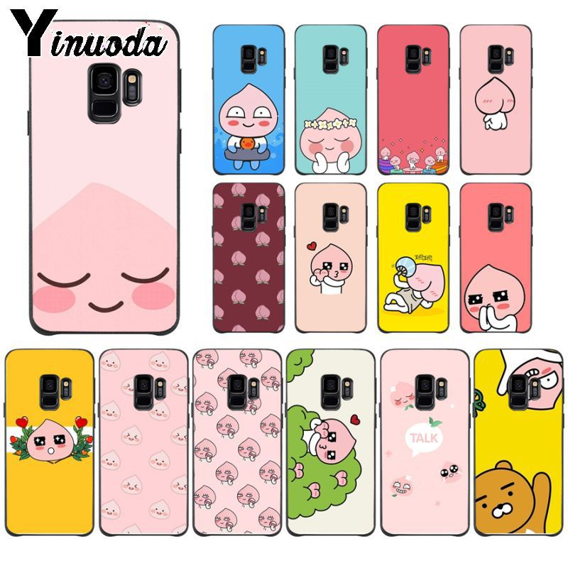 Yinuoda Korean cartoon funny cocoa friend Luxury Phone Cover For Samsung Galaxy s9 s8 plus note 8 note9 s7 note5 funda