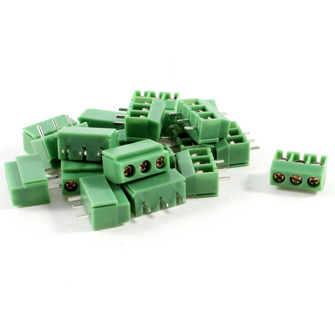 IMC Hot 20 Pcs 3 Pin 5mm Pitch PCB Mount Screw Terminal Block AC 250V 8A hot factory direct wholesale idc40 male plug 40pin port header terminal breakout pcb board block 2 row screw