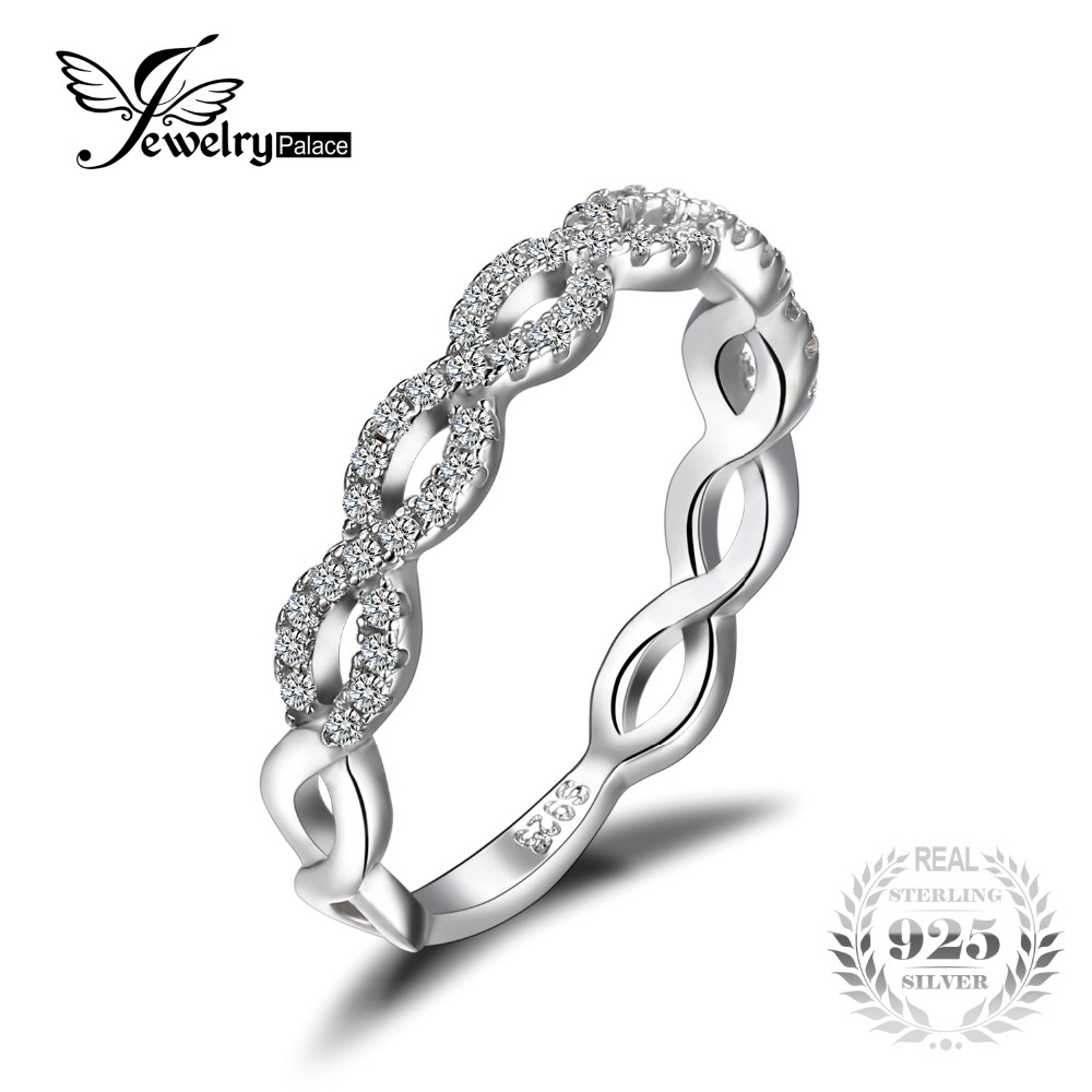Jewelrypalace infinity love 925 sterling silver cubic for Infinity ring jewelry store