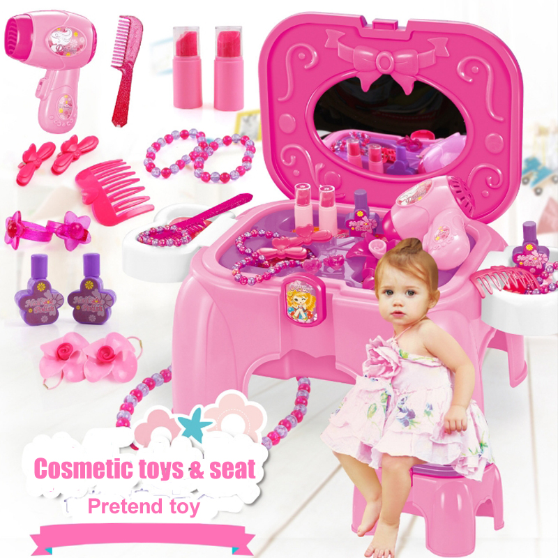 Children cosmetics toys for girls makeup toy Simulation dressing box dresser Girl princess dresser toys Children play house toys new arrival girls play house toys simulation children cleaning trolley with vacuum cleaner tool hygiene with gift